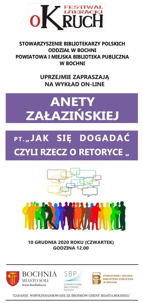 zaproszenie na wykład Anety Załazińskiej
