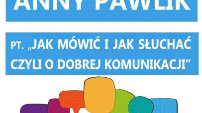 zaproszenie na wykład Anny Pawlik