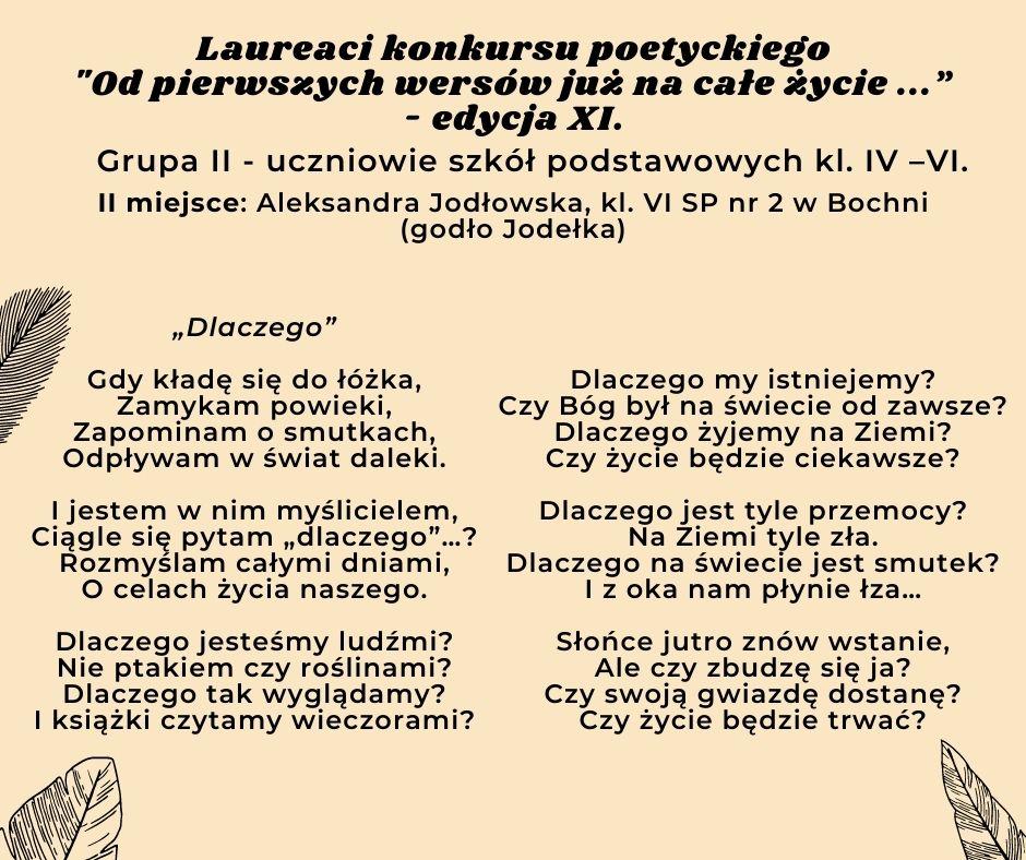 tekst wiersza w grupie klasa IV-VI szkoła podstawowa
